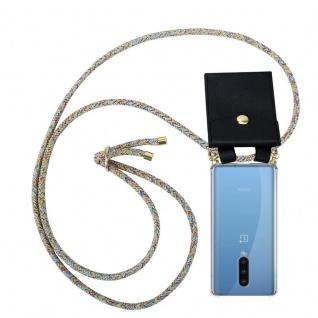 Cadorabo Handy Kette für Oneplus 8 in RAINBOW Silikon Necklace Umhänge Hülle mit Gold Ringen, Kordel Band Schnur und abnehmbarem Etui Schutzhülle