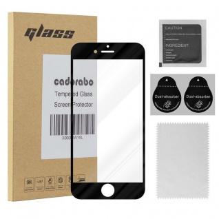 Cadorabo Vollbild Panzer Folie für Apple iPhone 8 / iPhone 7 / iPhone 7S - Schutzfolie in TRANSPARENT mit SCHWARZ - Gehärtetes (Tempered) Display-Schutzglas in 9H Härte mit 3D Touch Kompatibilität
