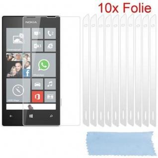 Cadorabo Displayschutzfolien für Nokia Lumia 520 - Schutzfolien in HIGH CLEAR ? 10 Stück hochtransparenter Schutzfolien gegen Staub, Schmutz und Kratzer