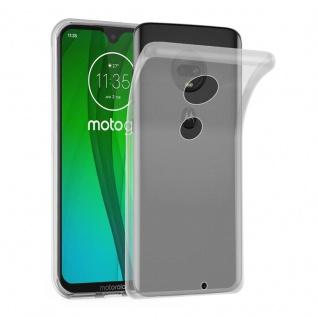 Cadorabo Hülle für Motorola MOTO G7 / G7 PLUS in VOLL TRANSPARENT - Handyhülle aus flexiblem TPU Silikon - Silikonhülle Schutzhülle Ultra Slim Soft Back Cover Case Bumper