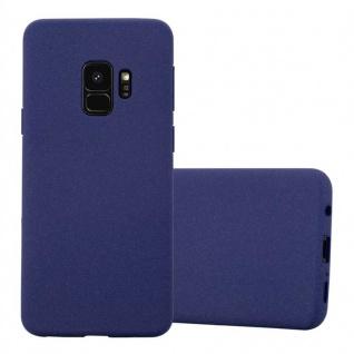Cadorabo Hülle für Samsung Galaxy S9 in FROST DUNKEL BLAU Handyhülle aus flexiblem TPU Silikon Silikonhülle Schutzhülle Ultra Slim Soft Back Cover Case Bumper