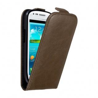 Cadorabo Hülle für Samsung Galaxy S3 MINI in KAFFEE BRAUN - Handyhülle im Flip Design mit unsichtbarem Magnetverschluss - Case Cover Schutzhülle Etui Tasche Book Klapp Style