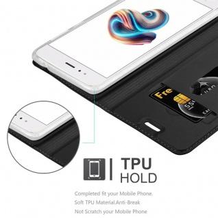 Cadorabo Hülle für Xiaomi Mi A1 / 5X in CLASSY SCHWARZ - Handyhülle mit Magnetverschluss, Standfunktion und Kartenfach - Case Cover Schutzhülle Etui Tasche Book Klapp Style - Vorschau 2