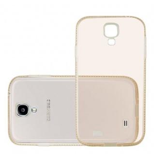 Cadorabo Hülle für Samsung Galaxy S4 - Hülle in TRANSPARENT GOLD ? Handyhülle aus TPU Silikon im Strass Design - Silikonhülle Schutzhülle Ultra Slim Soft Back Cover Case Bumper - Vorschau 2