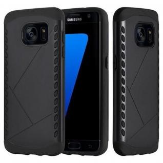Cadorabo Hülle für Samsung Galaxy S7 EDGE - Hülle in GUARDIAN SCHWARZ ? Hard Case TPU Silikon Schutzhülle für Hybrid Cover im Outdoor Heavy Duty Design
