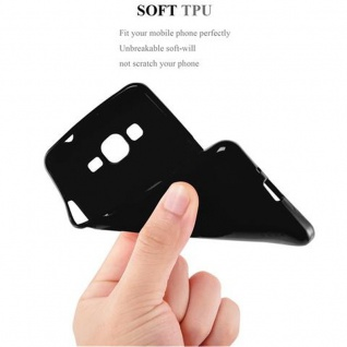 Cadorabo Hülle für Samsung Galaxy GRAND PRIME in JELLY SCHWARZ ? Handyhülle aus flexiblem TPU Silikon ? Silikonhülle Schutzhülle Ultra Slim Soft Back Cover Case Bumper - Vorschau 5