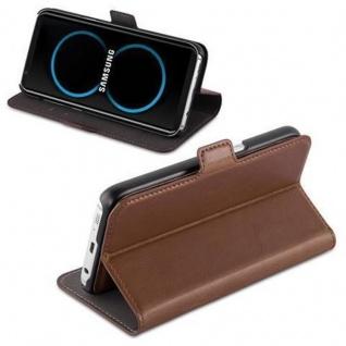 Cadorabo Hülle für Samsung Galaxy S8 - Hülle in ANTIK BRAUN ? Handyhülle im 2-in-1 Design mit Standfunktion und Kartenfach - Hard Case Book Etui Schutzhülle Tasche Cover - Vorschau 3