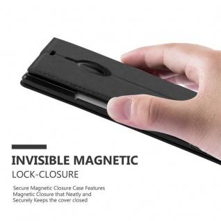 Cadorabo Hülle für Nokia Lumia 1520 in NACHT SCHWARZ - Handyhülle mit Magnetverschluss, Standfunktion und Kartenfach - Case Cover Schutzhülle Etui Tasche Book Klapp Style - Vorschau 4