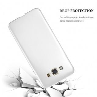 Cadorabo Hülle für Samsung Galaxy A8 2015 in METALL SILBER ? Hardcase Handyhülle aus Plastik gegen Kratzer und Stöße ? Schutzhülle Bumper Ultra Slim Back Case Hard Cover - Vorschau 3