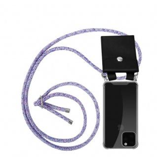 Cadorabo Handy Kette für Apple iPhone 11 PRO (XI PRO) in UNICORN - Silikon Necklace Umhänge Hülle mit Silber Ringen, Kordel Band Schnur und abnehmbarem Etui - Schutzhülle