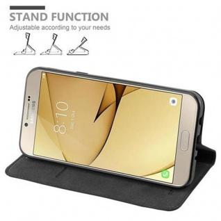 Cadorabo Hülle für Samsung Galaxy A8 2016 in NACHT SCHWARZ - Handyhülle mit Magnetverschluss, Standfunktion und Kartenfach - Case Cover Schutzhülle Etui Tasche Book Klapp Style - Vorschau 4