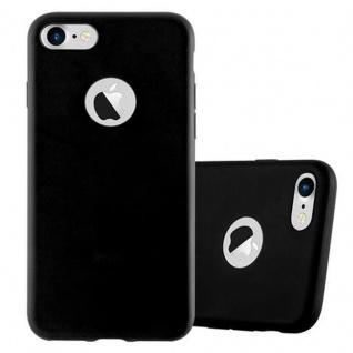 Cadorabo Hülle für Apple iPhone 7 / iPhone 7S / iPhone 8 in CANDY SCHWARZ - Handyhülle aus flexiblem TPU Silikon - Silikonhülle Schutzhülle Ultra Slim Soft Back Cover Case Bumper