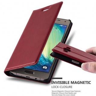 Cadorabo Hülle für Samsung Galaxy A5 2015 in APFEL ROT - Handyhülle mit Magnetverschluss, Standfunktion und Kartenfach - Case Cover Schutzhülle Etui Tasche Book Klapp Style