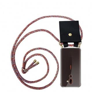 Cadorabo Handy Kette für Nokia 7 PLUS in COLORFUL PARROT Silikon Necklace Umhänge Hülle mit Gold Ringen, Kordel Band Schnur und abnehmbarem Etui Schutzhülle