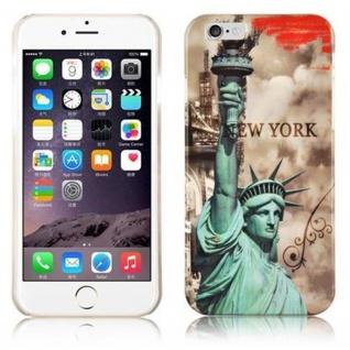 Cadorabo - Hard Cover für Apple iPhone 6 / iPhone 6S (4.7) - Case Cover Schutzhülle Bumper im Design: NEW YORK - FREIHEITSSTATUE