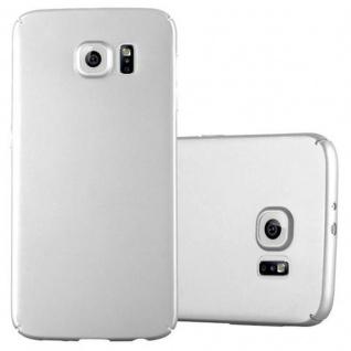 Cadorabo Hülle für Samsung Galaxy S6 in METALL SILBER - Hardcase Handyhülle aus Plastik gegen Kratzer und Stöße - Schutzhülle Bumper Ultra Slim Back Case Hard Cover