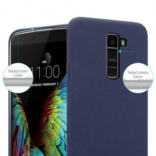 Cadorabo Hülle für LG K10 2016 in FROSTY BLAU - Hardcase Handyhülle aus Plastik gegen Kratzer und Stöße - Schutzhülle Bumper Ultra Slim Back Case Hard Cover - Vorschau 3