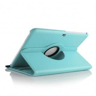 "Cadorabo ! PREMIUM - Samsung Galaxy Tab 4 - 10.1 ZOLL (T530 T535) Schutzhülle mit Standfunktion Drehbar 360 Grad Design "" 360°"" in blau"