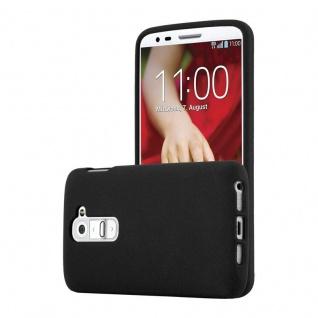 Cadorabo Hülle für LG G2 MINI in FROST SCHWARZ - Handyhülle aus flexiblem TPU Silikon - Silikonhülle Schutzhülle Ultra Slim Soft Back Cover Case Bumper
