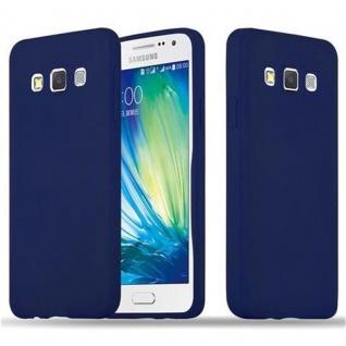 Cadorabo Hülle für Samsung Galaxy A3 2015 in CANDY DUNKEL BLAU - Handyhülle aus flexiblem TPU Silikon - Silikonhülle Schutzhülle Ultra Slim Soft Back Cover Case Bumper