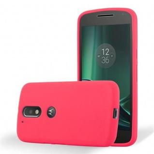 Cadorabo Hülle für Motorola MOTO G4 / MOTO G4 PLUS - Hülle in FROST ROT ? Handyhülle aus TPU Silikon im matten Frosted Design - Ultra Slim Soft Backcover Case Bumper