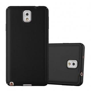 Cadorabo Hülle für Samsung Galaxy NOTE 3 in METALL SCHWARZ - Hardcase Handyhülle aus Plastik gegen Kratzer und Stöße - Schutzhülle Bumper Ultra Slim Back Case Hard Cover