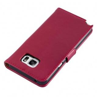 Cadorabo Hülle für Samsung Galaxy NOTE 5 in WEIN ROT ? Handyhülle mit Magnetverschluss, Standfunktion und Kartenfach ? Case Cover Schutzhülle Etui Tasche Book Klapp Style - Vorschau 5