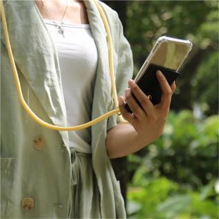 Cadorabo Handy Kette für Oneplus 8 in CREME BEIGE Silikon Necklace Umhänge Hülle mit Gold Ringen, Kordel Band Schnur und abnehmbarem Etui Schutzhülle - Vorschau 4