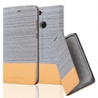 Cadorabo Hülle für Huawei Y6 PRO 2017 in HELL GRAU BRAUN - Handyhülle mit Magnetverschluss, Standfunktion und Kartenfach - Case Cover Schutzhülle Etui Tasche Book Klapp Style