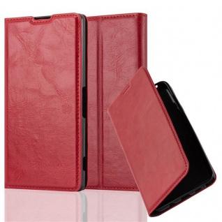 Cadorabo Hülle für Sony Xperia Z2 in APFEL ROT Handyhülle mit Magnetverschluss, Standfunktion und Kartenfach Case Cover Schutzhülle Etui Tasche Book Klapp Style
