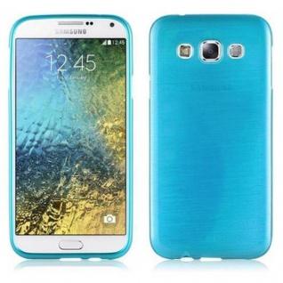 Cadorabo Hülle für Samsung Galaxy E5 2015 in TÜRKIS - Handyhülle aus flexiblem TPU Silikon - Silikonhülle Schutzhülle Ultra Slim Soft Back Cover Case Bumper