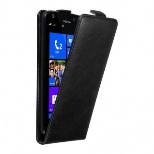Cadorabo Hülle für Nokia Lumia 925 in NACHT SCHWARZ Handyhülle im Flip Design mit unsichtbarem Magnetverschluss Case Cover Schutzhülle Etui Tasche Book Klapp Style