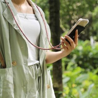 Cadorabo Handy Kette für Huawei MATE 20 LITE in COLORFUL PARROT - Silikon Necklace Umhänge Hülle mit Silber Ringen, Kordel Band Schnur und abnehmbarem Etui - Schutzhülle - Vorschau 3