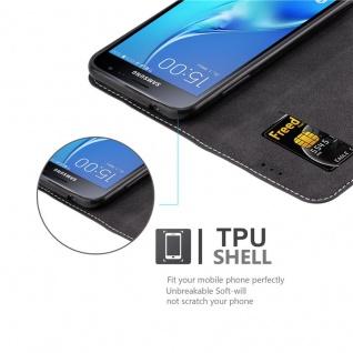 Cadorabo Hülle für Samsung Galaxy J3 / J3 DUOS 2016 in SCHWARZ BRAUN ? Handyhülle mit Magnetverschluss, Standfunktion und Kartenfach ? Case Cover Schutzhülle Etui Tasche Book Klapp Style - Vorschau 2