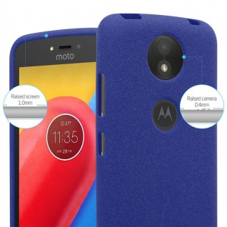 Cadorabo Hülle für Motorola MOTO C PLUS in FROST DUNKEL BLAU - Handyhülle aus flexiblem TPU Silikon - Silikonhülle Schutzhülle Ultra Slim Soft Back Cover Case Bumper - Vorschau 5
