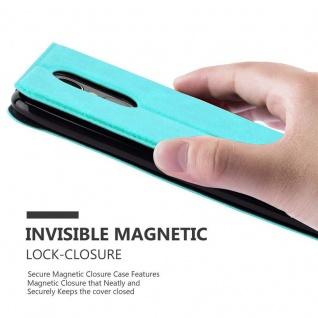 Cadorabo Hülle für LG K8 2017 in MINT TÜRKIS - Handyhülle mit Magnetverschluss, Standfunktion und 2 Sichtfenstern - Case Cover Schutzhülle Etui Tasche Book Klapp Style - Vorschau 5
