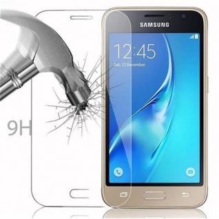 Cadorabo Panzer Folie für Samsung Galaxy J1 MINI 2016 - Schutzfolie in KRISTALL KLAR - Gehärtetes (Tempered) Display-Schutzglas in 9H Härte mit 3D Touch Kompatibilität - Vorschau 3