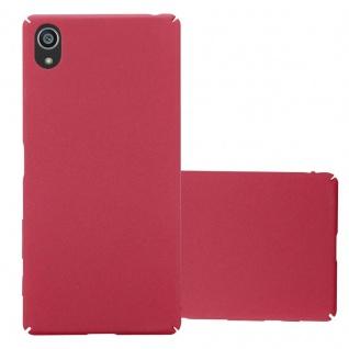 Cadorabo Hülle für Sony Xperia Z5 in FROSTY ROT Hardcase Handyhülle aus Plastik gegen Kratzer und Stöße Schutzhülle Bumper Ultra Slim Back Case Hard Cover