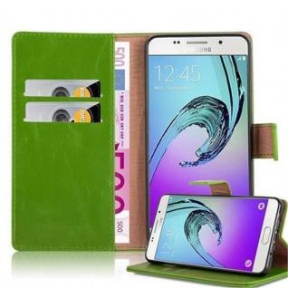 Cadorabo Hülle für Samsung Galaxy A5 2016 in GRAS GRÜN - Handyhülle mit Magnetverschluss, Standfunktion und Kartenfach - Case Cover Schutzhülle Etui Tasche Book Klapp Style