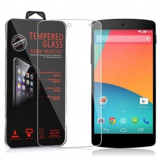 Cadorabo Panzer Folie für LG Google Nexus 5 - Schutzfolie in KRISTALL KLAR - Gehärtetes (Tempered) Display-Schutzglas in 9H Härte mit 3D Touch Kompatibilität