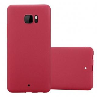 Cadorabo Hülle für HTC U Ultra in FROSTY ROT Hardcase Handyhülle aus Plastik gegen Kratzer und Stöße Schutzhülle Bumper Ultra Slim Back Case Hard Cover