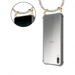 Cadorabo Handy Kette für Sony Xperia L3 in RAINBOW - Silikon Necklace Umhänge Hülle mit Gold Ringen, Kordel Band Schnur und abnehmbarem Etui ? Schutzhülle - Vorschau 5