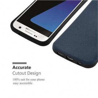 Cadorabo Hülle für Samsung Galaxy S7 - Hülle in MEERES BLAU - Small Waist Handyhülle mit rutschfestem Gummi-Rücken - Hard Case TPU Silikon Schutzhülle - Vorschau 5