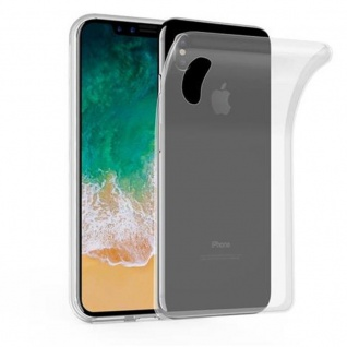 Cadorabo Hülle für Apple iPhone X / XS in VOLL TRANSPARENT - Handyhülle aus flexiblem TPU Silikon - Silikonhülle Schutzhülle Ultra Slim Soft Back Cover Case Bumper