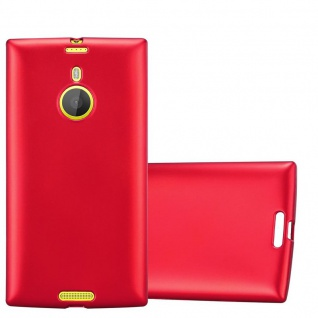 Cadorabo Hülle für Nokia Lumia 1520 in METALLIC ROT - Handyhülle aus flexiblem TPU Silikon - Silikonhülle Schutzhülle Ultra Slim Soft Back Cover Case Bumper