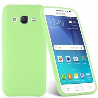 Cadorabo Hülle für Samsung Galaxy J2 2015 in CANDY PASTELL GRÜN - Handyhülle aus flexiblem TPU Silikon - Silikonhülle Schutzhülle Ultra Slim Soft Back Cover Case Bumper - Vorschau 2