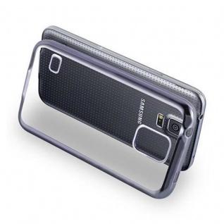 Cadorabo Hülle für Samsung Galaxy S5 / S5 NEO - Hülle in TRANSPARENT mit CHROM SCHWARZ ? Handyhülle aus TPU Silikon im Chrom Design - Silikonhülle Schutzhülle Ultra Slim Soft Back Cover Case Bumper - Vorschau 4