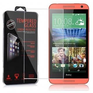 Cadorabo Panzer Folie für HTC Desire 610 - Schutzfolie in KRISTALL KLAR - Gehärtetes (Tempered) Display-Schutzglas in 9H Härte mit 3D Touch Kompatibilität