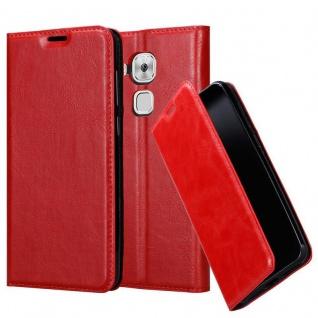 Cadorabo Hülle für Huawei NOVA PLUS in APFEL ROT - Handyhülle mit Magnetverschluss, Standfunktion und Kartenfach - Case Cover Schutzhülle Etui Tasche Book Klapp Style