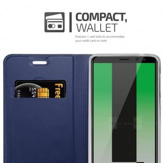 Cadorabo Hülle für Huawei MATE 10 LITE in CLASSY DUNKEL BLAU - Handyhülle mit Magnetverschluss, Standfunktion und Kartenfach - Case Cover Schutzhülle Etui Tasche Book Klapp Style - Vorschau 3